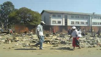 Operation Murambatsvina - Scene in Chitungwiza after Operation Murambatsvina