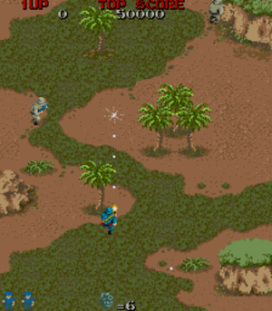 Commando (video game) - In-game screenshot