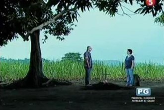 Valiente (2012 TV series) - Damian and Donya Trining on Leona's burial.
