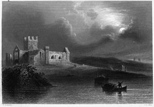 Dunbrody Abbey - The abbey in the 1840s
