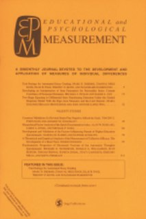 <i>Educational and Psychological Measurement</i> Academic journal