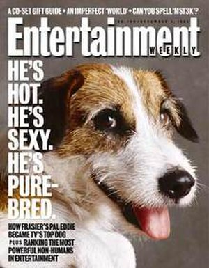 Moose (dog) - Moose on the cover of Entertainment Weekly