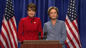 Saturday Night Live parodies of Hillary Clinton - Image: Fey Poehler as Palin Clinton
