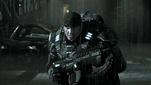 "Gears of War (video game) - The ""Mad World"" spot used the game's textures and models, demonstrated the fidelity of the game's graphics."