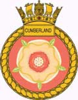 HMS Cumberland (F85) - Ship's badge