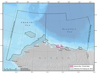 Harrison Bay (Beaufort Sea) - Map of the Harrison Bay and Colville River Delta region in the Beaufort Sea