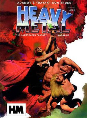 Heavy Metal (magazine) - Richard Corben's Den characters returned for the March 1996 cover.