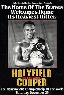 Evander Holyfield vs. Bert Cooper Boxing competition