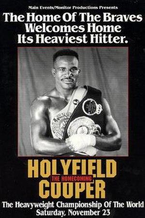 Evander Holyfield vs. Bert Cooper - Image: Holyfield vs Cooper