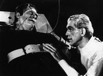 Glenn Strange - Strange and Boris Karloff, in the 1944 horror film, House of Frankenstein