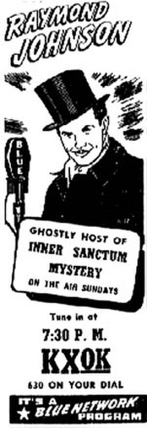 Inner Sanctum Mystery - An advertisement for Inner Sanctum
