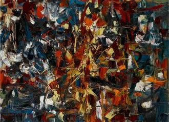 Jean-Paul Riopelle - Jean-Paul Riopelle, 1948, Untitled (sans titre), oil on canvas, 97.5 x 130 cm (38 3/8 x 51¼ in.)