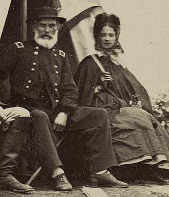 Kate Chase - Union General J.J. Abercrombie and Kate Chase Sprague, circa 1863
