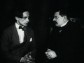A scene from Different from the Others (1919), a film made in Berlin, whose main character struggles with his homosexuality.