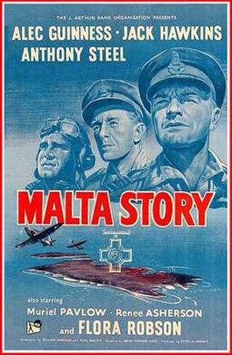 Malta Story - Original UK film poster