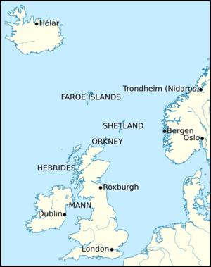 Haraldr Guðrøðarson - Image: Map png crovan dynasty international