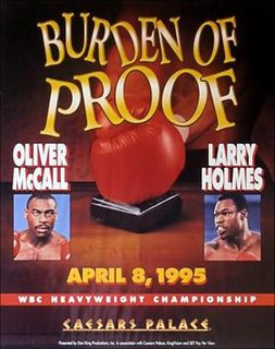 Oliver McCall vs. Larry Holmes Boxing competition