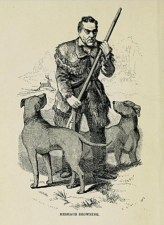 Meshach Browning - Meshach Browning illustration from his 1859 autobiography, Forty-Four Years of the Life of a Hunter; Being Reminiscences of Meshach Browning, a Maryland Hunter; Roughly Written Down by Himself.