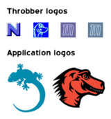 Various logos used during the development of Mozilla