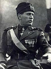 Benito Mussolini in 1925. The Italian contribution to the battle was a contingent of the Regia Aeronautica called the Corpo Aereo Italiano.