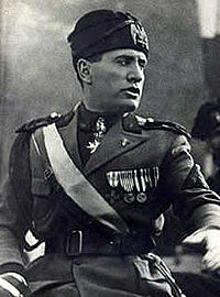 """Il Duce"" (The Leader) Benito Mussolini."