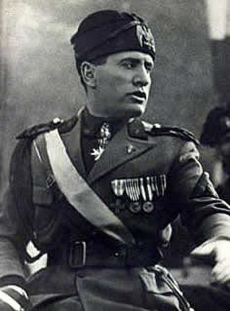 Fascist symbolism - Benito Mussolini in uniform.