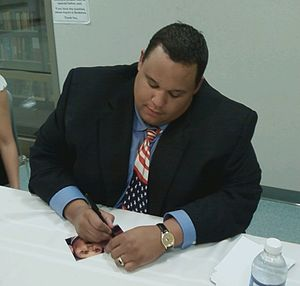 Neal E. Boyd - Neal E. Boyd signing an autograph after performing at St. John Lutheran Church-Ellisville, Missouri, U.S.