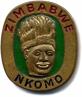 Joshua Nkomo - ZAPU election badge, c1980