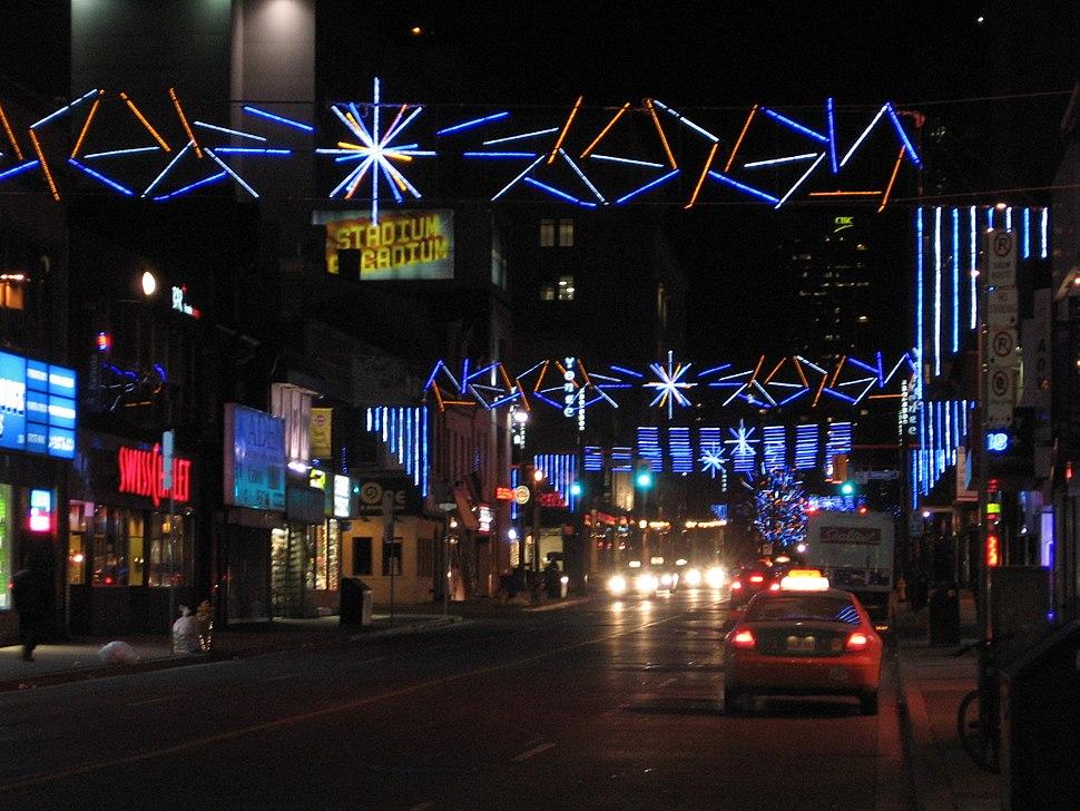 Northbound Yonge Christmas