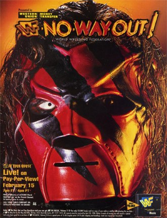 Kane (wrestler) - Kane on the No Way Out of Texas: In Your House pay-per-view poster