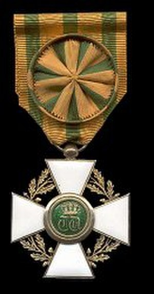 Order of the Oak Crown - Officer's cross