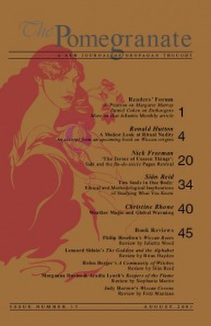 The Pomegranate - The front cover to The Pomegranate: A New Journal of Neopagan Studies (issue 17 portrayed).