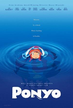 Ponyo - American poster for Ponyo