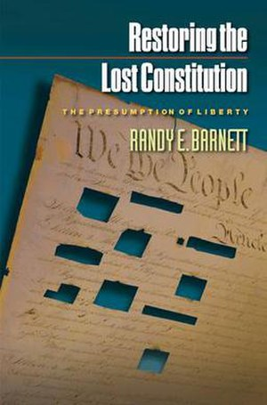 Restoring the Lost Constitution - 2004 Cover