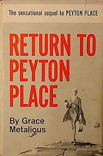<i>Return to Peyton Place</i> book by Grace Metalious