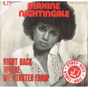Right Back Where We Started From - Image: Right Back Where We Started From Maxine Nightingale
