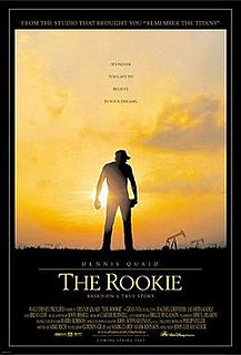 <i>The Rookie</i> (2002 film) 2002 film produced by Walt Disney Pictures