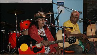 Archie Roach - Roach (right) with Ruby Hunter at the 2009 Tamworth Country Music Festival