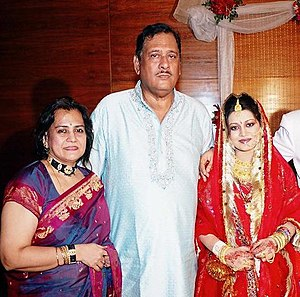 A. K. Faezul Huq - From left to right: Rukhsana Huq and  A. K. Faezul Huq, with their daughter-in-law (March 2007)