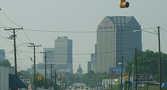 Midlands of South Carolina - Columbia skyline coming from North Main St.