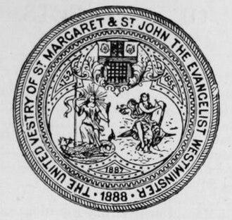 Westminster St Margaret and St John - Image: Seal of the United Vestry of St Margaret and St John