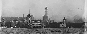 Colman Dock - Colman dock (clock tower on right) between 1912 and 1914.