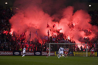 "Chicago Fire Soccer Club - ""Section 8"", the supporters area at Toyota Park"