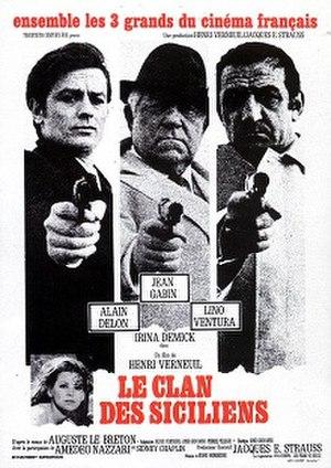 Le clan des siciliens - French film poster