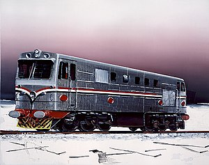 Dirk Skreber - Dirk Skreber's Untitled (Train) (courtesy Frank Cohen Collection)