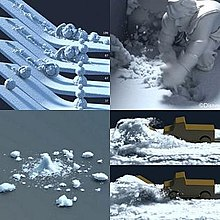 Test Animation Demonstrating Snow Effects Employed In The Film