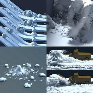 Frozen (2013 film) - Test animation demonstrating snow effects employed in the film