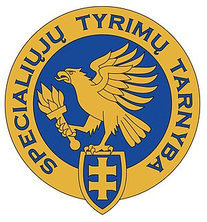 Special Investigation Service - Image: Special Investigation Service of the Republic of Lithuania logo