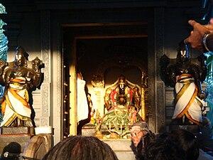 Badri Narayanan temple - Sun rays falling upon the idol of Lord Badri Narayanan.