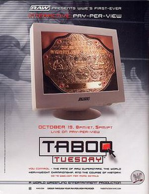 Taboo Tuesday (2004) - Promotional poster featuring Triple H and the World Heavyweight Championship